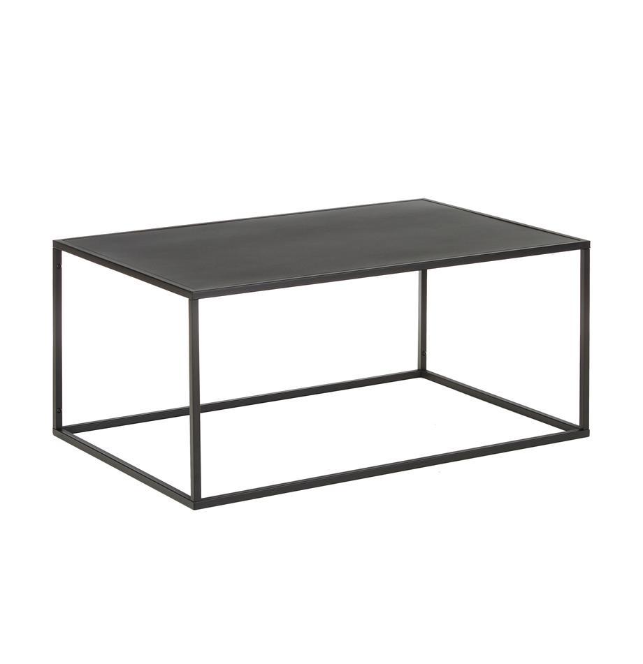 Metalen salontafel Newton in zwart, Gepoedercoat metaal, Zwart, B 90  x D 60 cm