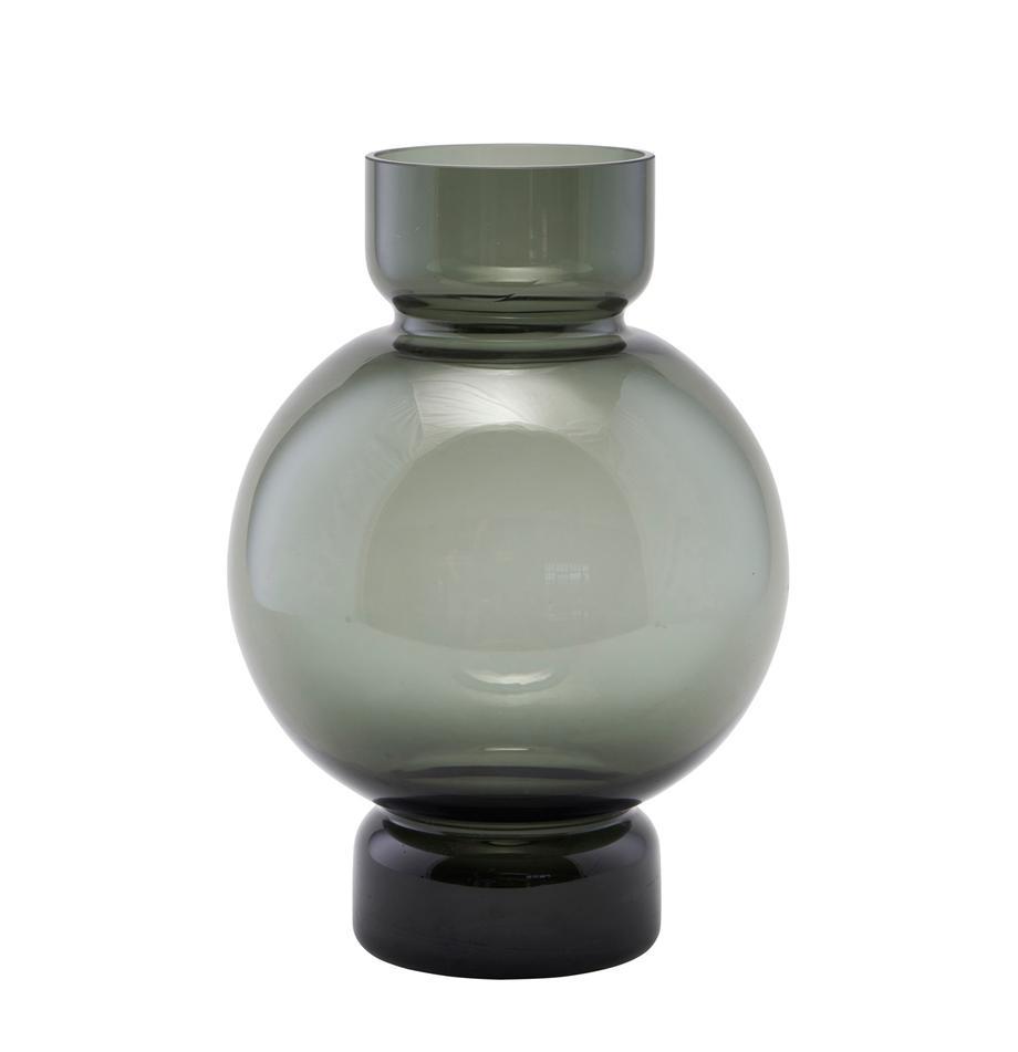 Glas-Vase Bubble, Glas, Grau, transparent, Ø 18 x H 25 cm