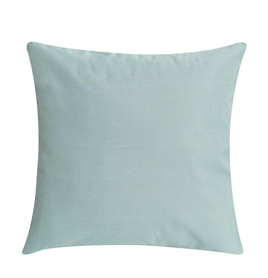 Zewnętrzna tkana poduszka z wypełnieniem St. Maxime, Tapicerka: poliester, Miętowy, czarny, S 47 x D 47 cm