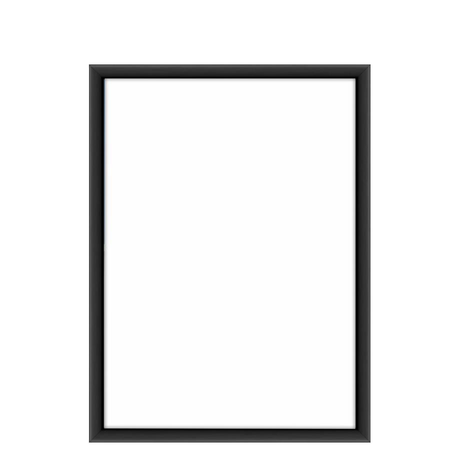Marco Accent, Parte trasera: tablero de fibras de dens, Negro, 13 x 18 cm
