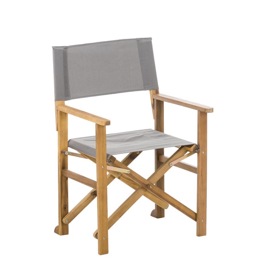 Silla plegable Zoe, Estructura: madera de acacia, aceitad, Gris, An 52 x F 58 cm