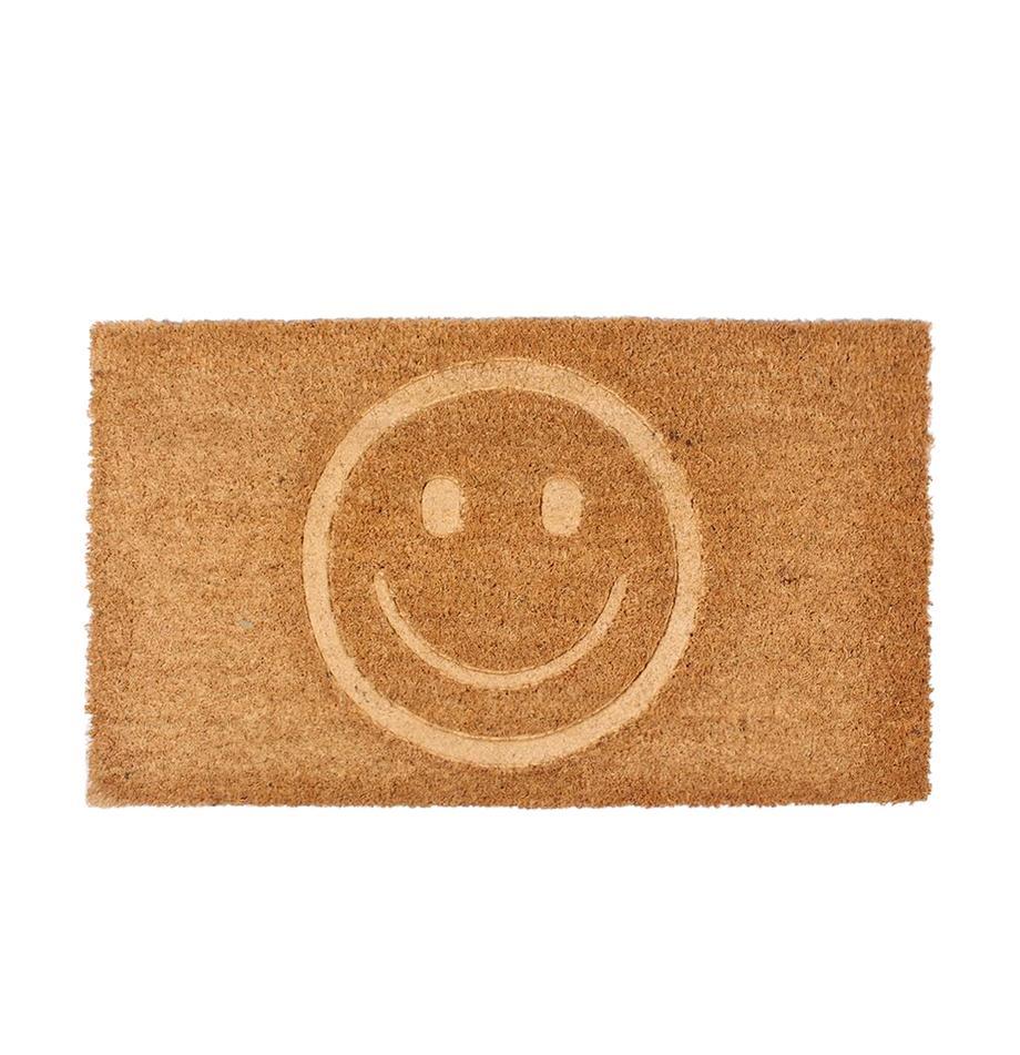 Zerbino in cocco Smile, Retro: PVC, Marrone, Larg. 40 x Lung. 70 cm