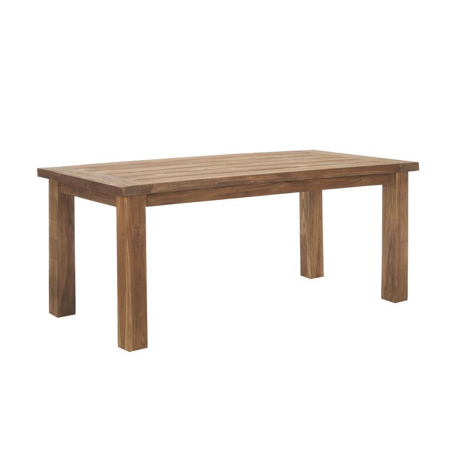 Tavolo in legno massello Bois, Legno di teak massello, non trattato, Teak, Larg. 180 x Prof. 90 cm