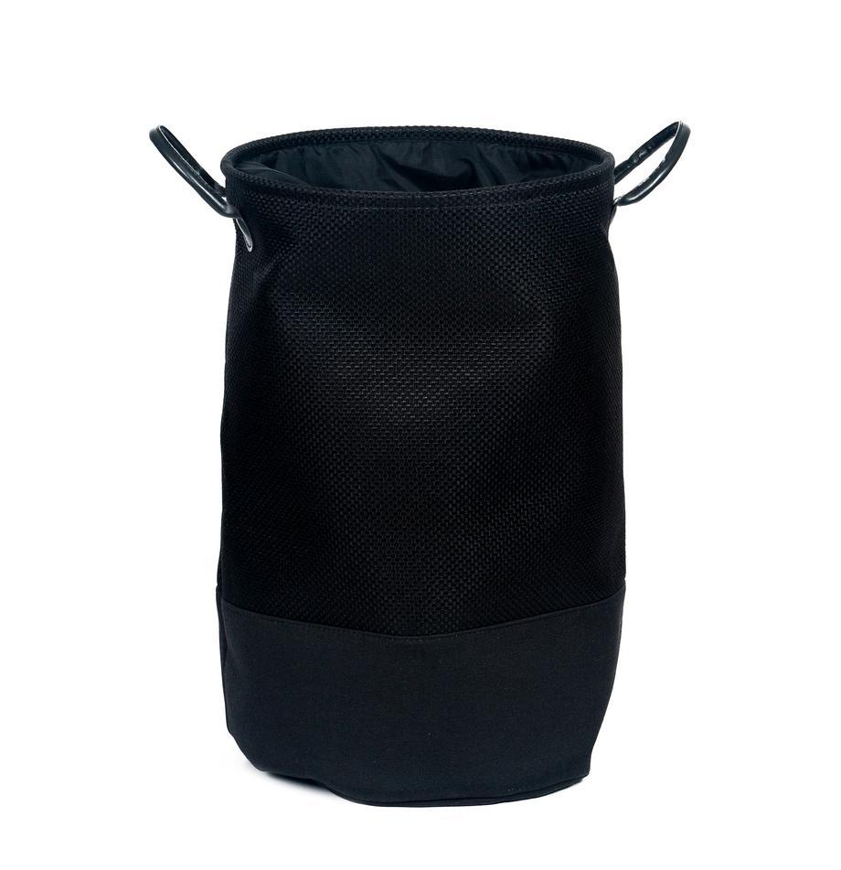 Wasmand Camberwell, Polyester, Zwart, Ø 35 x H 55 cm