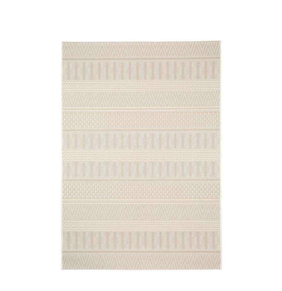 Dywan wewnętrzny/zewnętrzny Naoto, 100% polipropylen, Kremowy, jasny beżowy, S 120 x D 170 cm (Rozmiar S)