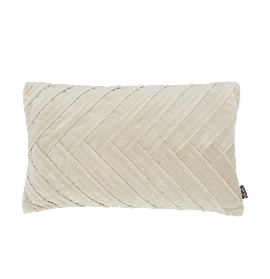 Poduszka z wypełnieniem Folded, Tapicerka: 100% bawełna, Beżowy, S 30 x D 50 cm