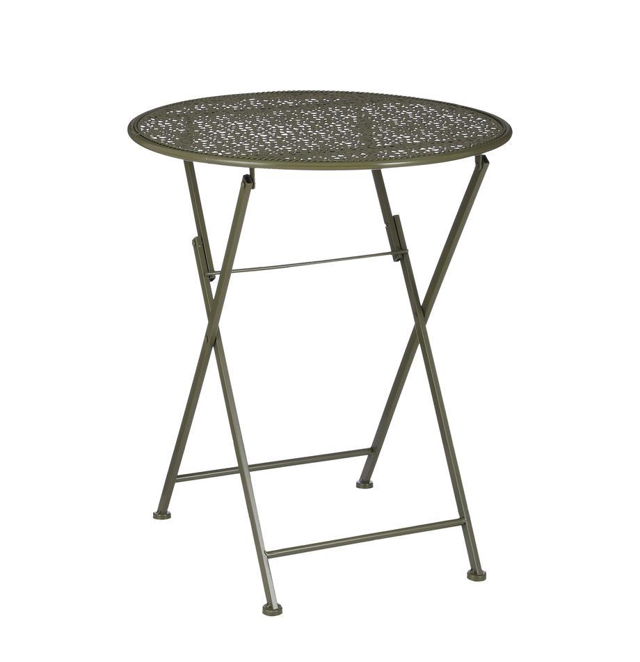 Składany stolik balkonowy Shane, Metal powlekany, Zielony, Ø 60 x W 70 cm