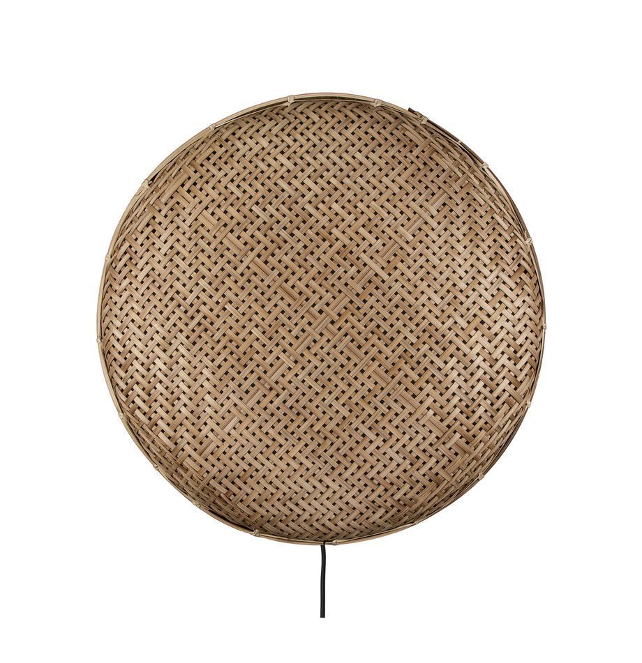 LED-Rattan-Wandleuchte Aruba mit Stecker, Lampenschirm: Rattan, Rattan, Ø 50 x T 5 cm