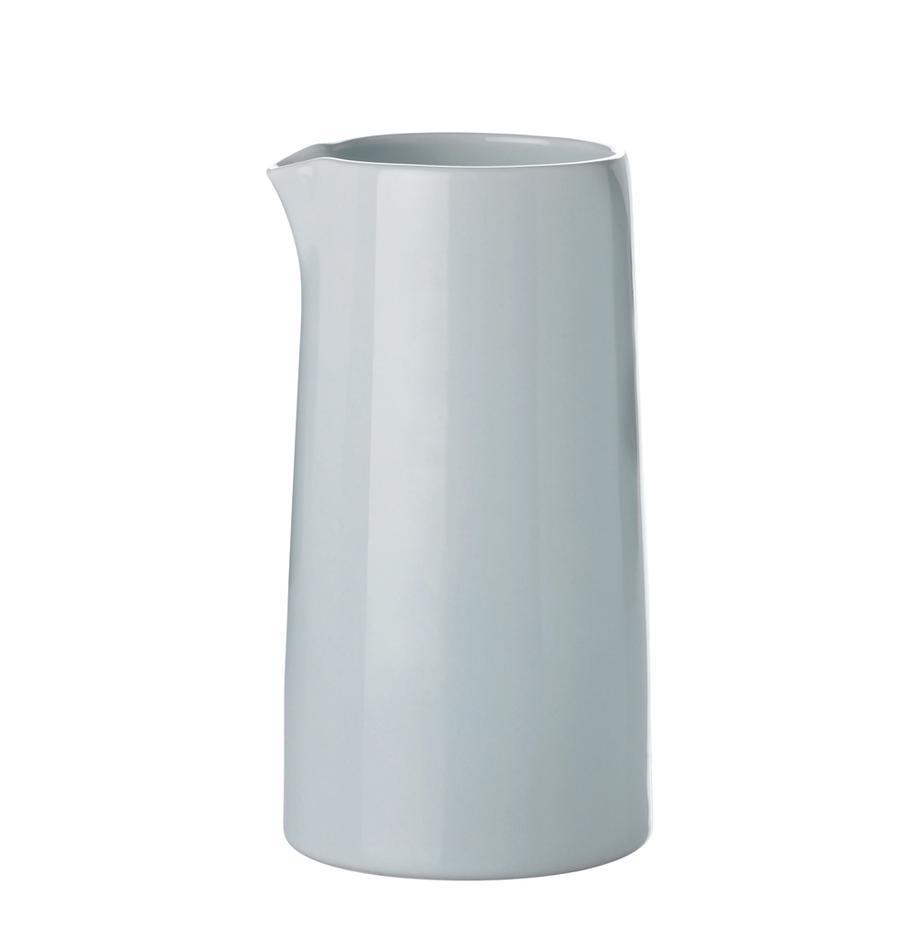 Termiczny dzbanek do mleka z kamionki Emma, 300 ml, Kamionka, Niebieski, szary, Ø 14 cm