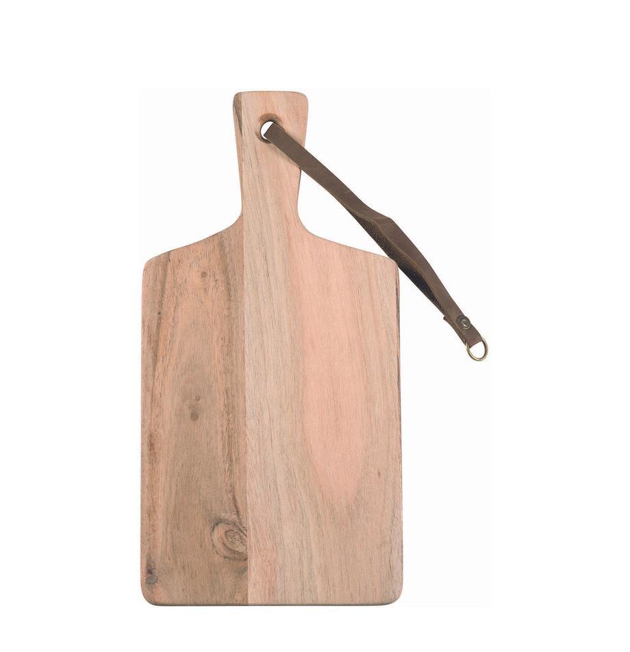 Tabla de cortar de madera Acacia, diferentes tamaños, Correa: cuero, Acacia, An 30 x Al 15 cm