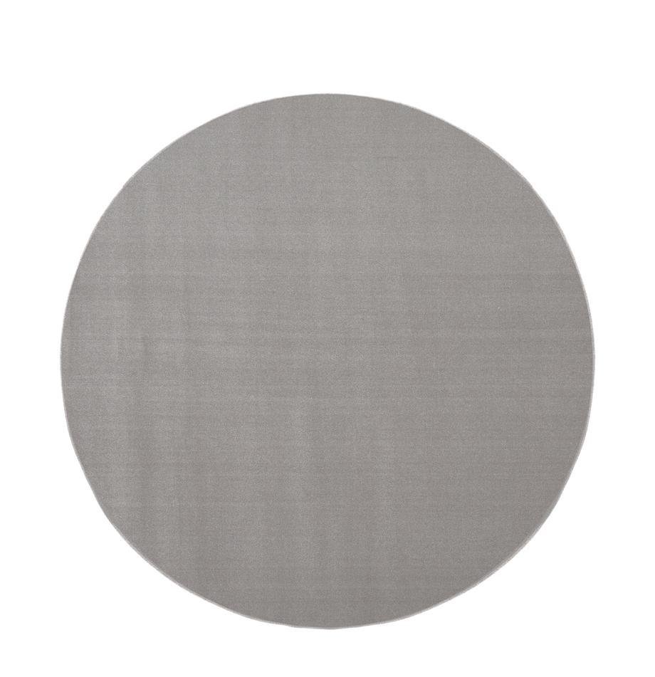 Runder Wollteppich Ida in Grau, Flor: 100% Wolle, Grau, Ø 120 cm (Größe S)