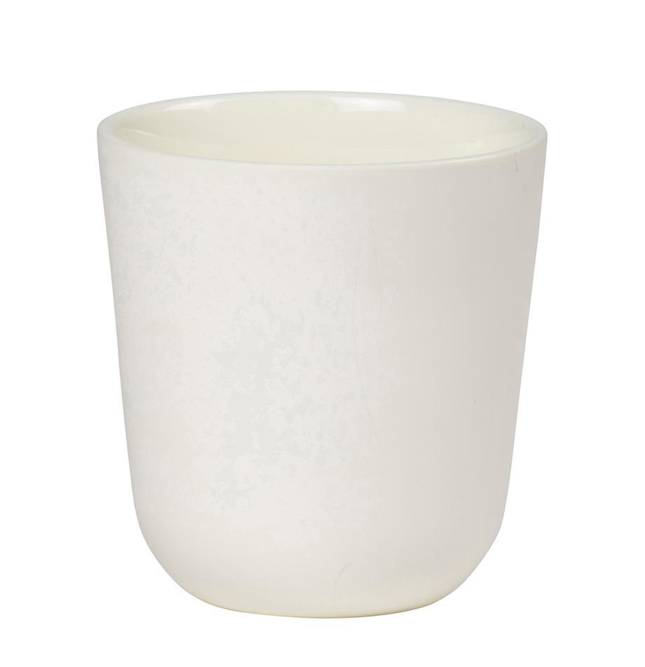 Tazas Nudge, 4uds., Porcelana, Blanco crema, Ø 9x Al 10 cm