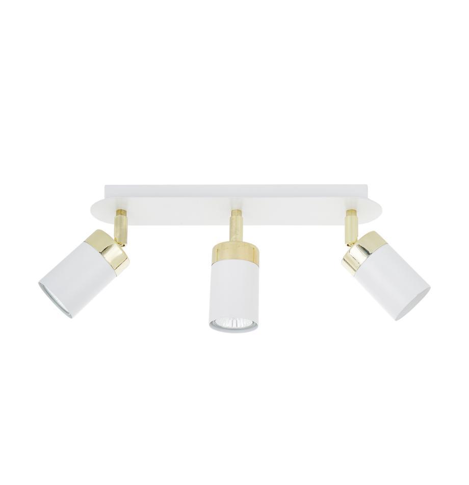 Riel Joker, Anclaje: metal pintado, Estructura: metal recubierto, Blanco, latón, An 45 x Al 13 cm