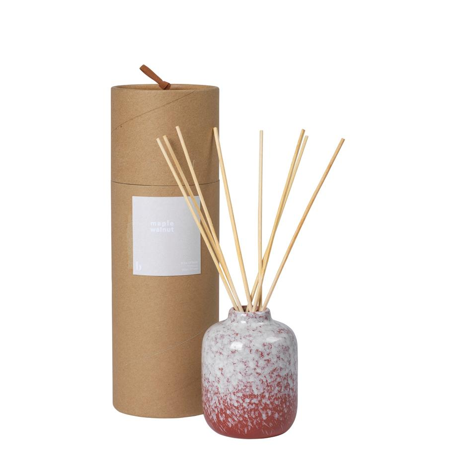Ambientador Maple Walnut (nogal), Recipiente: cerámica, Rojo, blanco, Ø 7 x Al 9 cm