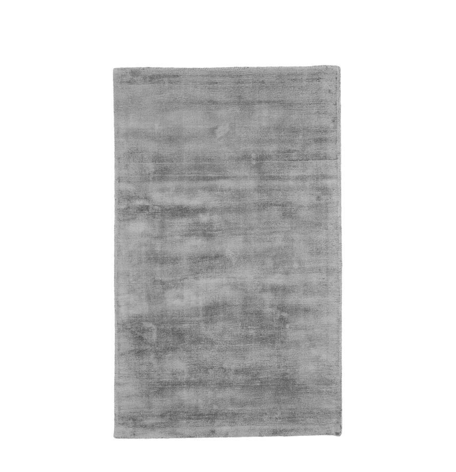 Tappeto in viscosa tessuto a mano Jane, Retro: 100% cotone, Grigio, Larg. 90 x Lung. 150 cm (taglia XS)