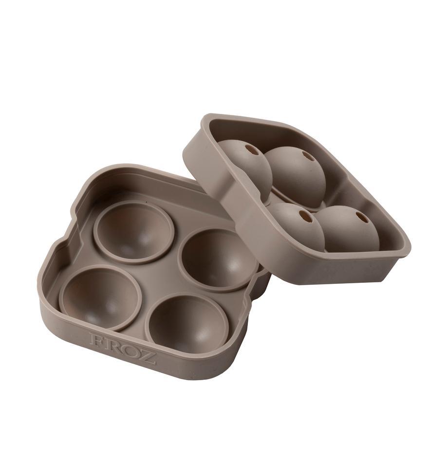 Molde para cubitos de hielo Sphere, Silicona, Gris pardo, An 12 x Al 5 cm