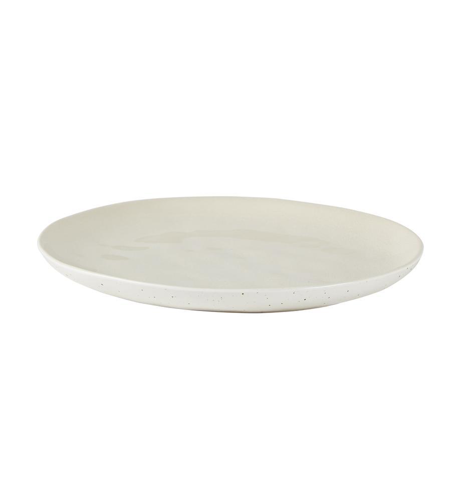 Frühstücksteller Loga, 2 Stück, Steingut, Gebrochenes Weiß, Ø 21 cm