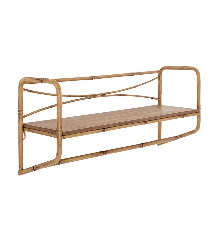 Półka ścienna z drewna bambusowego Rod, Brązowy, S 63 x W 28 cm