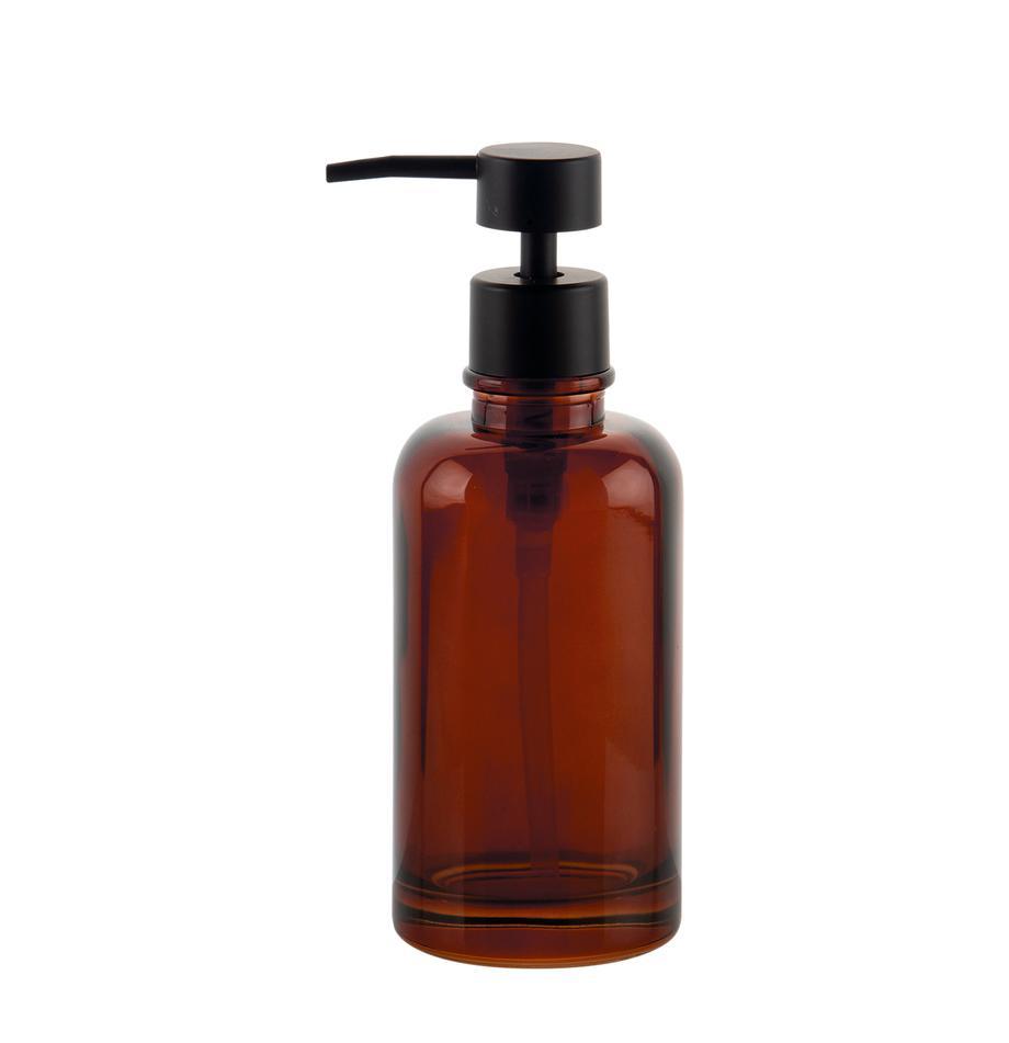 Dozownik do mydła Dorsey, Szkło, Brązowy, czarny, Ø 7 x W 19 cm