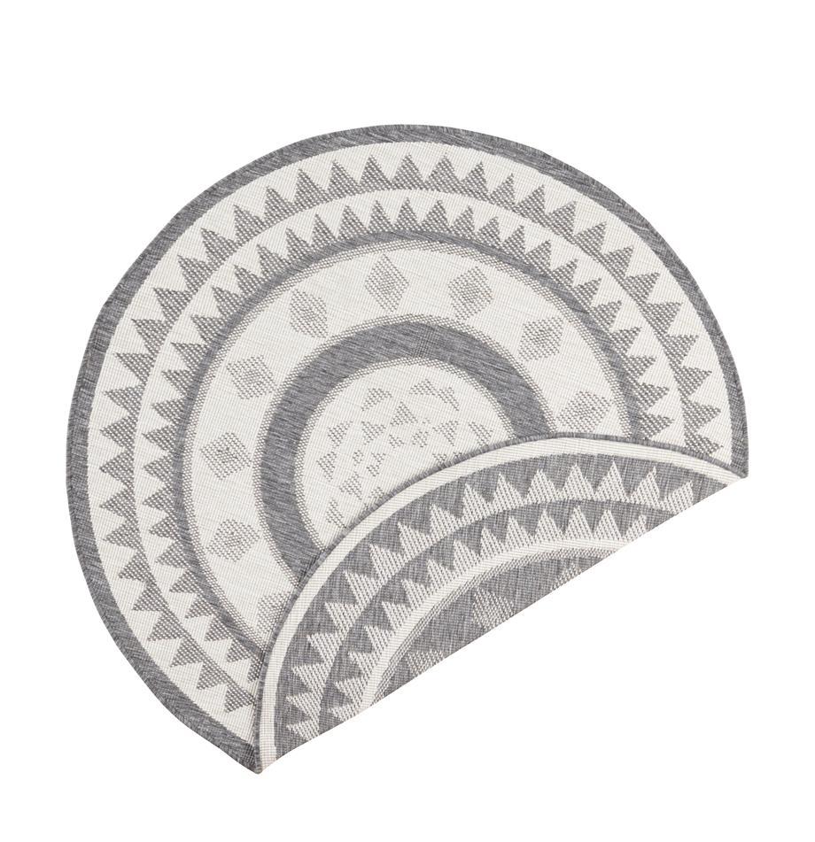 Runder In- & Outdoor-Wendeteppich Jamaica in Grau/Creme, Grau, Creme, Ø 140 cm (Größe M)
