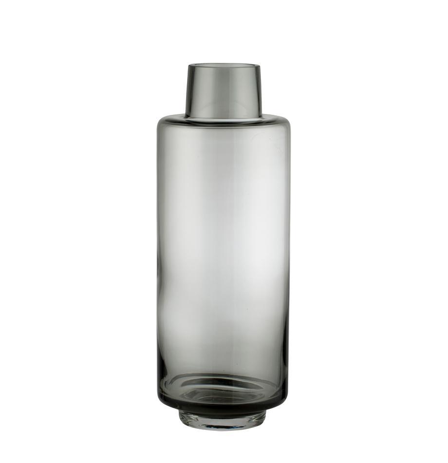 Grosse Mundgeblasene Vase Hedria, Glas, Rauchgrau, Ø 11 x H 30 cm