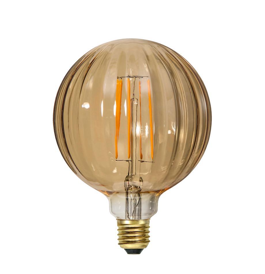 E27 Leuchtmittel, 3W, warmweiss, 1 Stück, Leuchtmittelschirm: Glas, Leuchtmittelfassung: Nickel, Bernstein, Ø 13 x H 17 cm