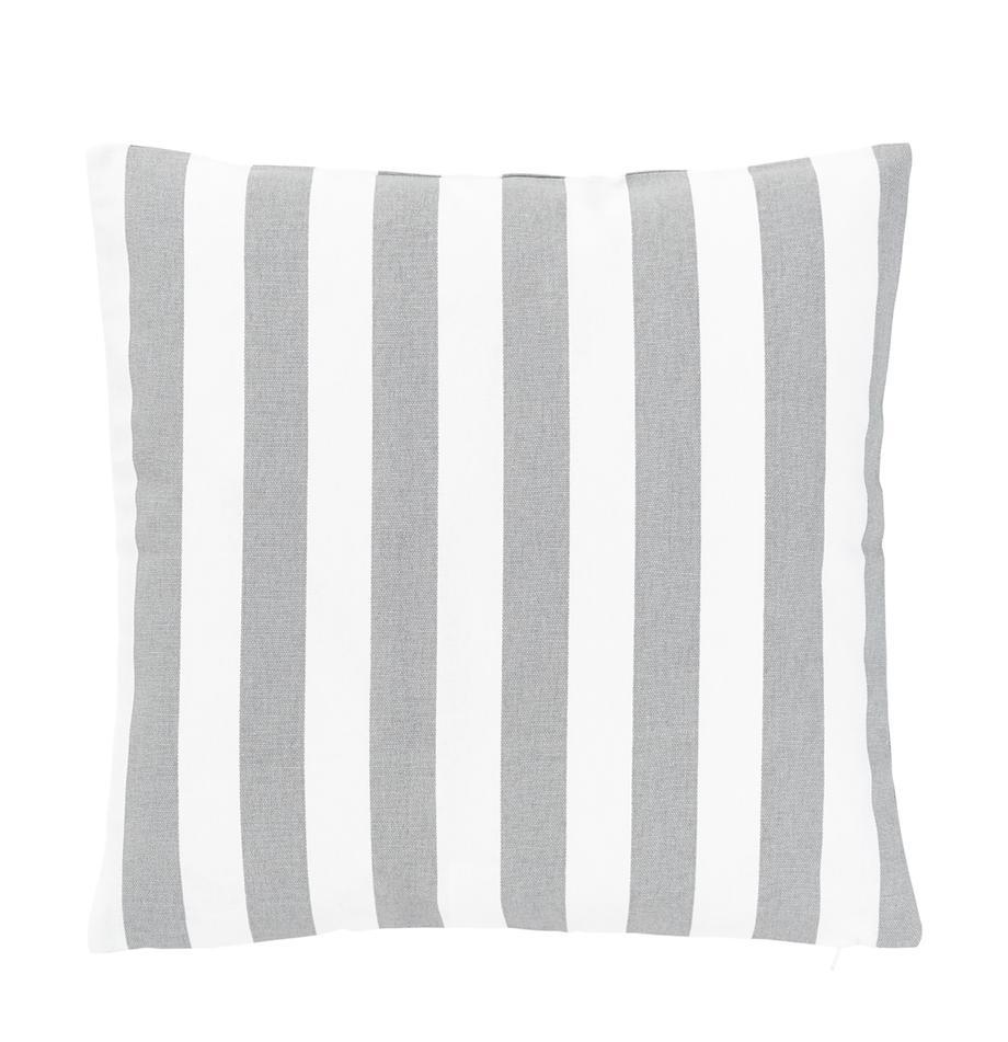 Poszewka na poduszkę Timon, 100% bawełna, Jasny szary, biały, S 40 x D 40 cm
