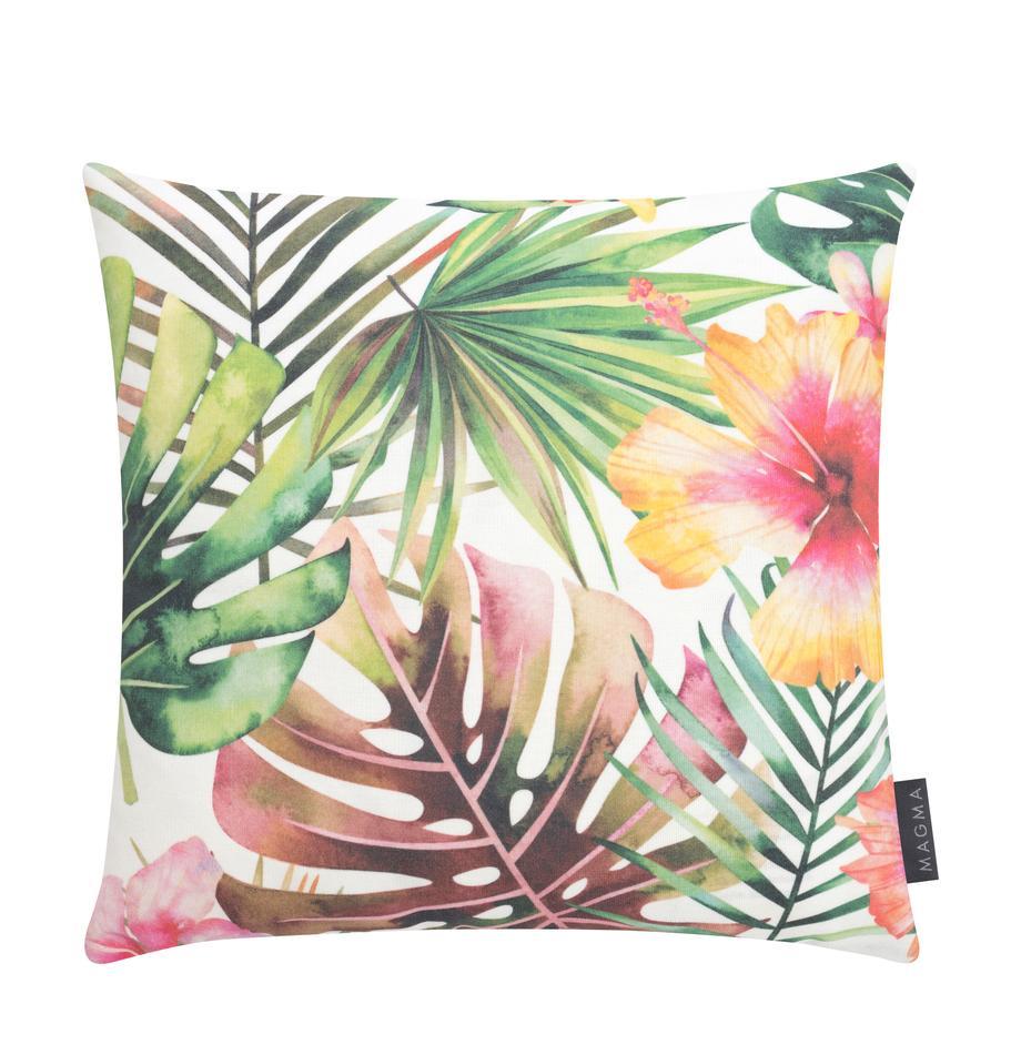 Outdoor-Kissenhülle Kokamo mit tropischem Print, 100% Dralon® Polyacryl, Mehrfarbig, 40 x 40 cm
