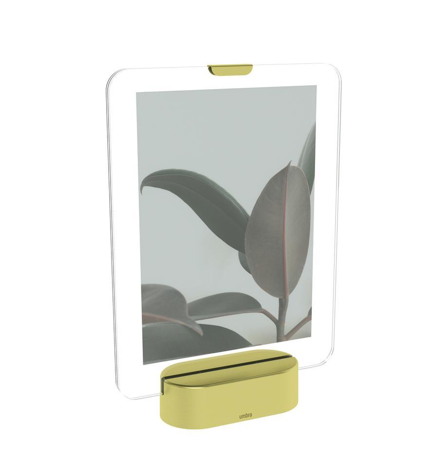 Cornice a LED Glo, Cornice: bicchieri, Ottonato, 13 x 18 cm