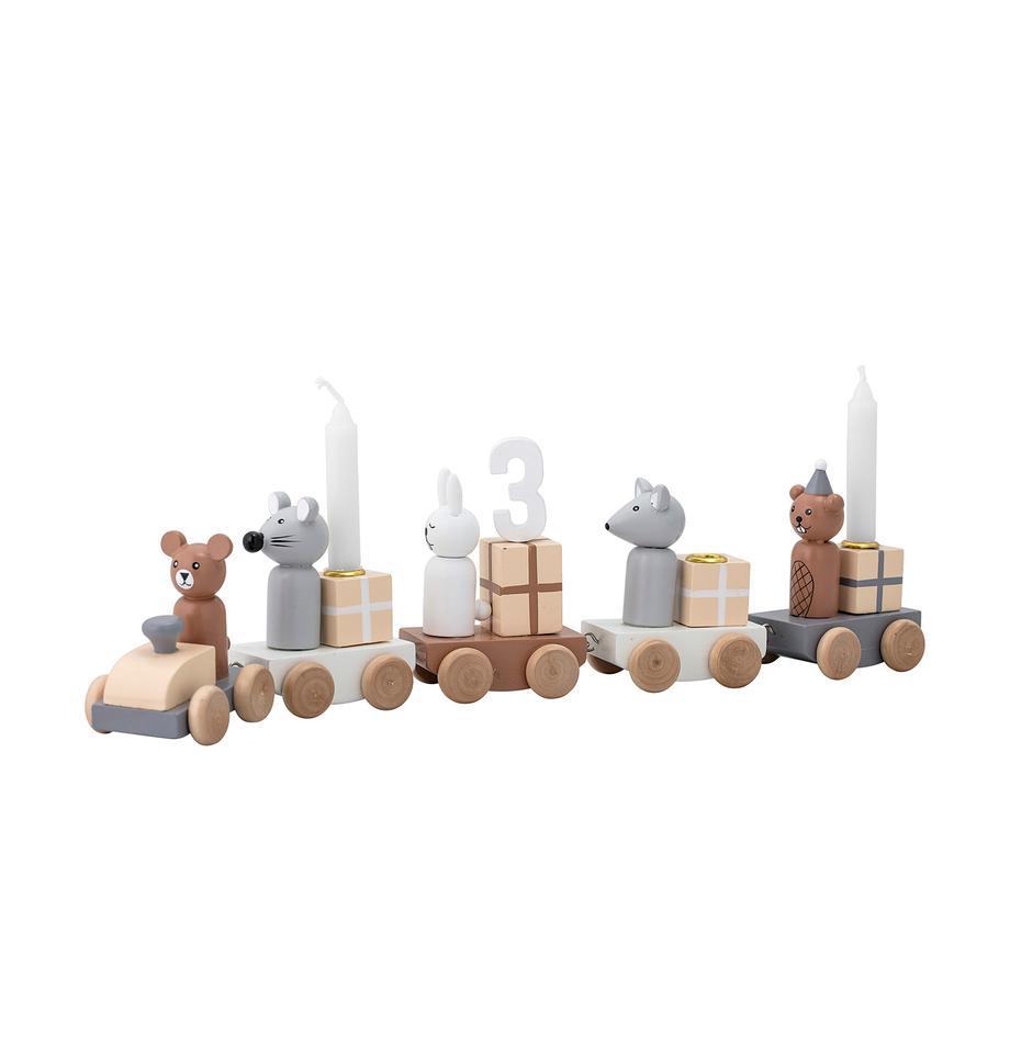 Pieza decorativa Birthday, Tablero de fibras de densidad media(MDF), Multicolor, An 38 x Al 11 cm
