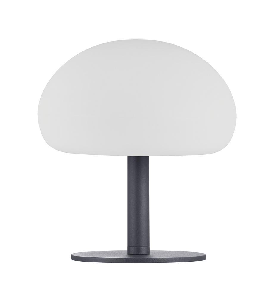Mobile Dimmbare Aussentischlampe Sponge, Lampenschirm: Kunststoff, Weiss, Schwarz, Ø 20 x H 22cm