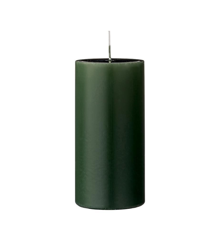Vilas pilar Lulu, 2uds., Cera, Verde profundo, Ø 7 x Al 15 cm