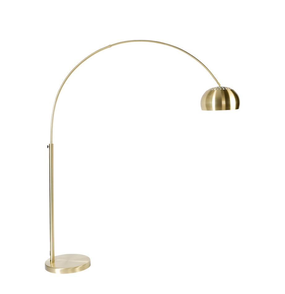Bogenlampe Metal Bow in Gold, Lampenschirm: Metall, vermessingt, Gestell: Metall, vermessingt, Messingfarben, 170 x 205 cm