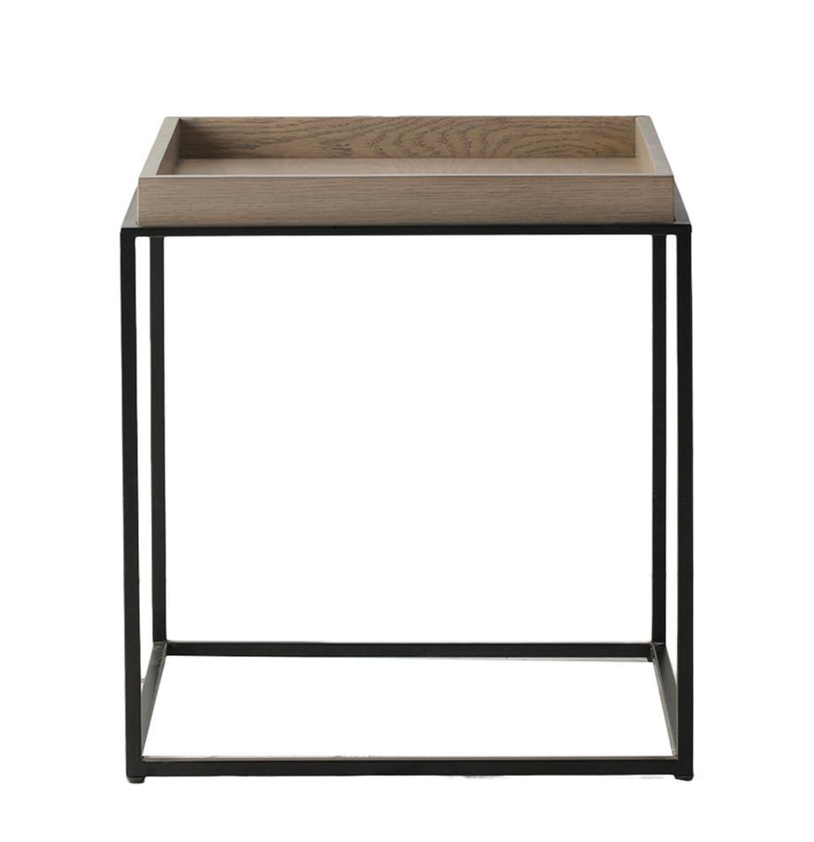Tavolino Forden, Piano del tavolo: pannello di fibra a media, Marrone, Larg. 55 x Alt. 60 cm