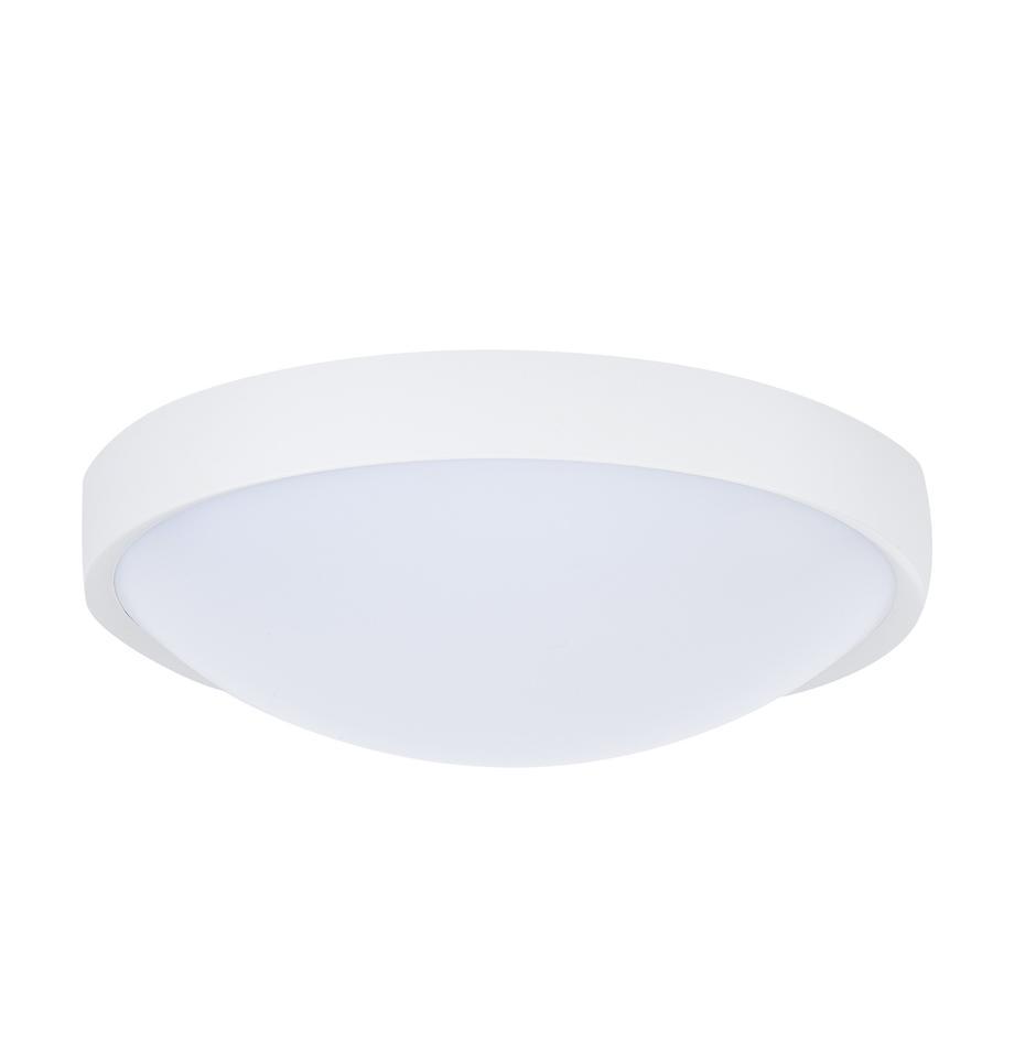 Schlichte LED-Deckenleuchte Altus, Kunststoff, Weiß, Ø 30 x H 9 cm