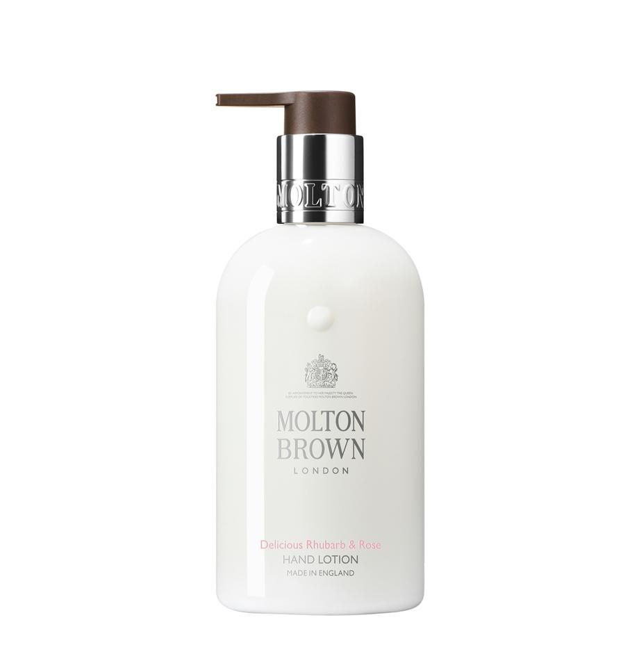 Handcreme Molton (Rhabarber & Rosa), Behälter: Recycelbarer Kunststoff, Weiss, Ø 6 x H 15 cm