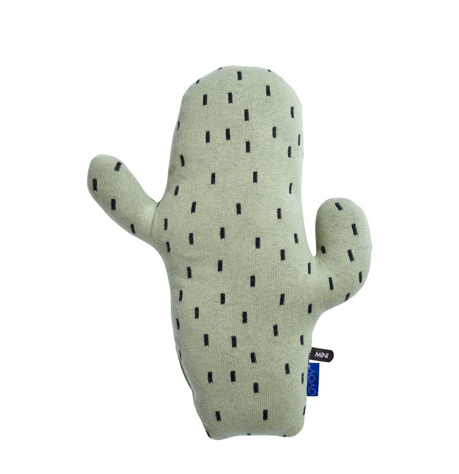 Kuschelkissen Cactus, Baumwolle, Grün, Schwarz, 28 x 38 cm