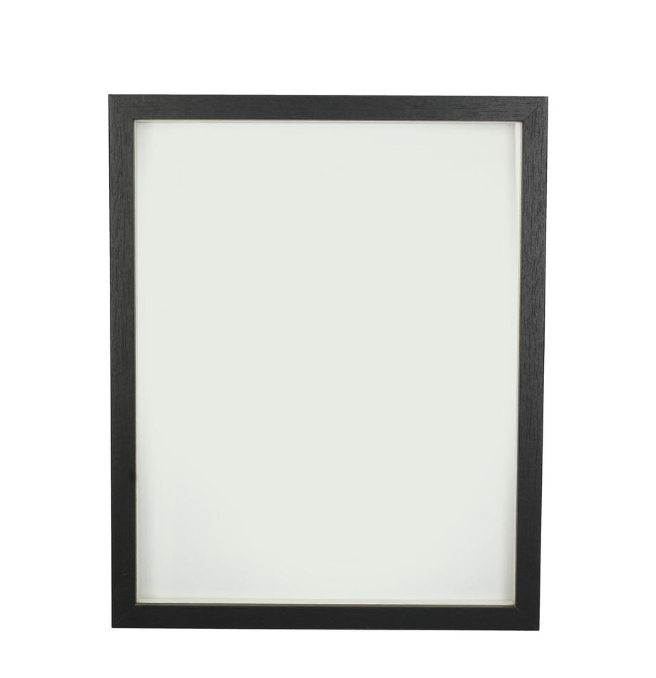 Bildrahmen Andesine, Rahmen: Holz, beschichtet, Front: Glas, Schwarz, 20 x 25 cm
