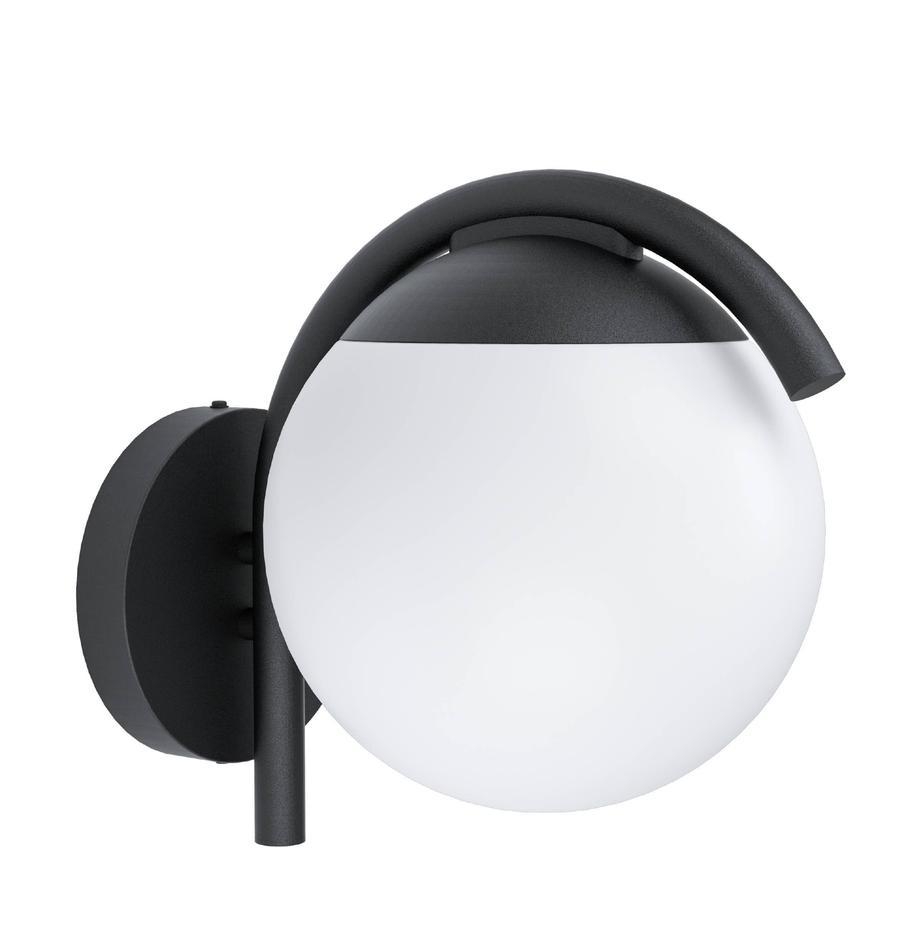 Außenwandleuchte Prata, Lampenschirm: Kunststoff, Schwarz, Weiß, 20 x 26 cm