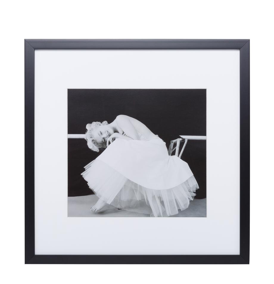 Stampa digitale incorniciata Dancing Queen, Immagine: stampa digitale, Cornice: materiale sintetico, Immagine: nero, bianco<br>Cornice: nero, L 40 x A 40 cm