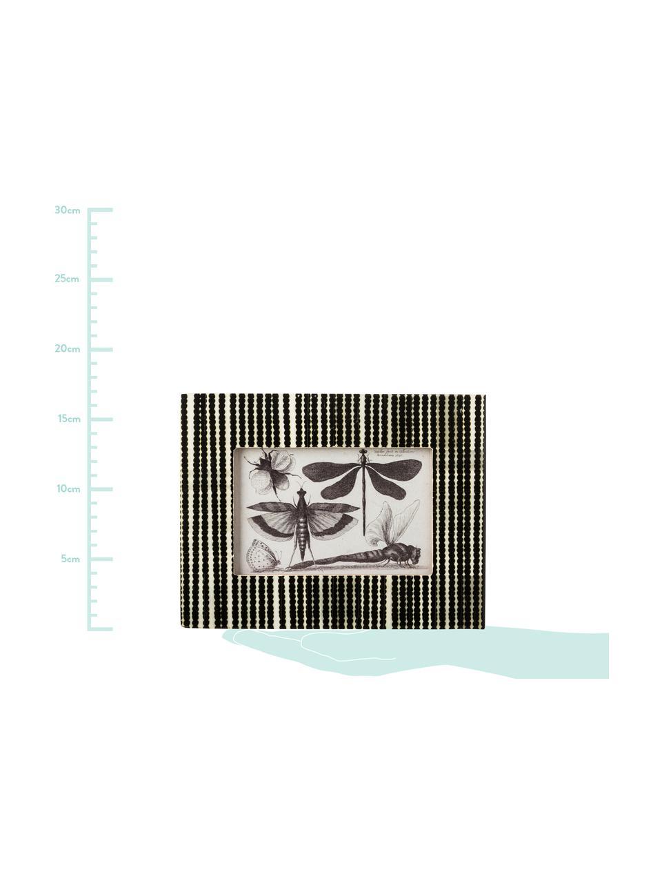 Ramka na zdjęcia Babbit, Czarny, biały, 10 x 15 cm