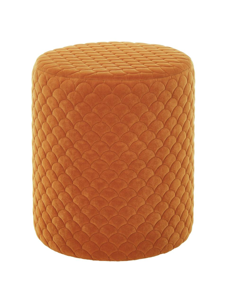 Samt-Hocker Daisy, Bezug: Samt (Polyester) 84.000 S, Rahmen: Sperrholz, Samt Terrakotta, Ø 38 x H 45 cm