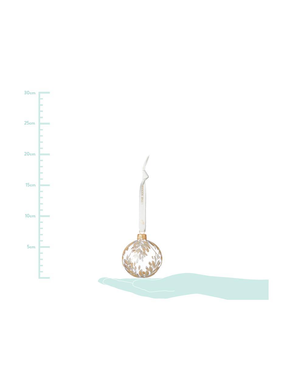 Palla di Natale Cadelia Ø 6 cm, 2 pz, Trasparente, dorato, Ø 6 cm