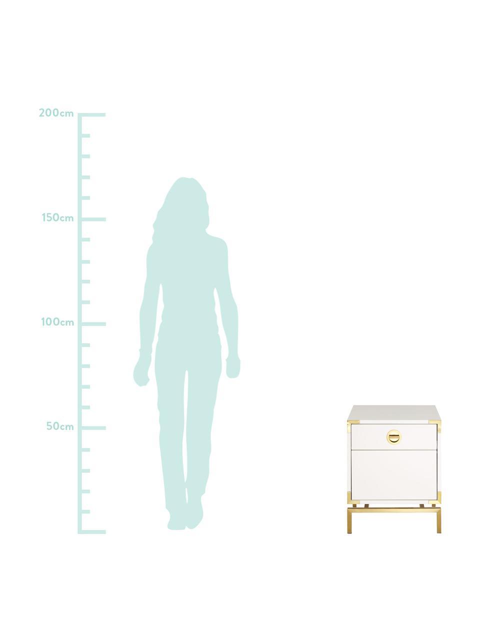 Comodino con cassetto Elegance, Bianco, Larg. 45 x Alt. 55 cm