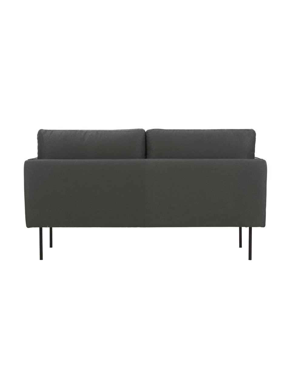 Sofa Ramira (2-Sitzer), Bezug: Polyester 20.000 Scheuert, Gestell: Massives Kiefernholz, Spe, Füße: Metall, pulverbeschichtet, Webstoff Anthrazit, 151 x 79 cm