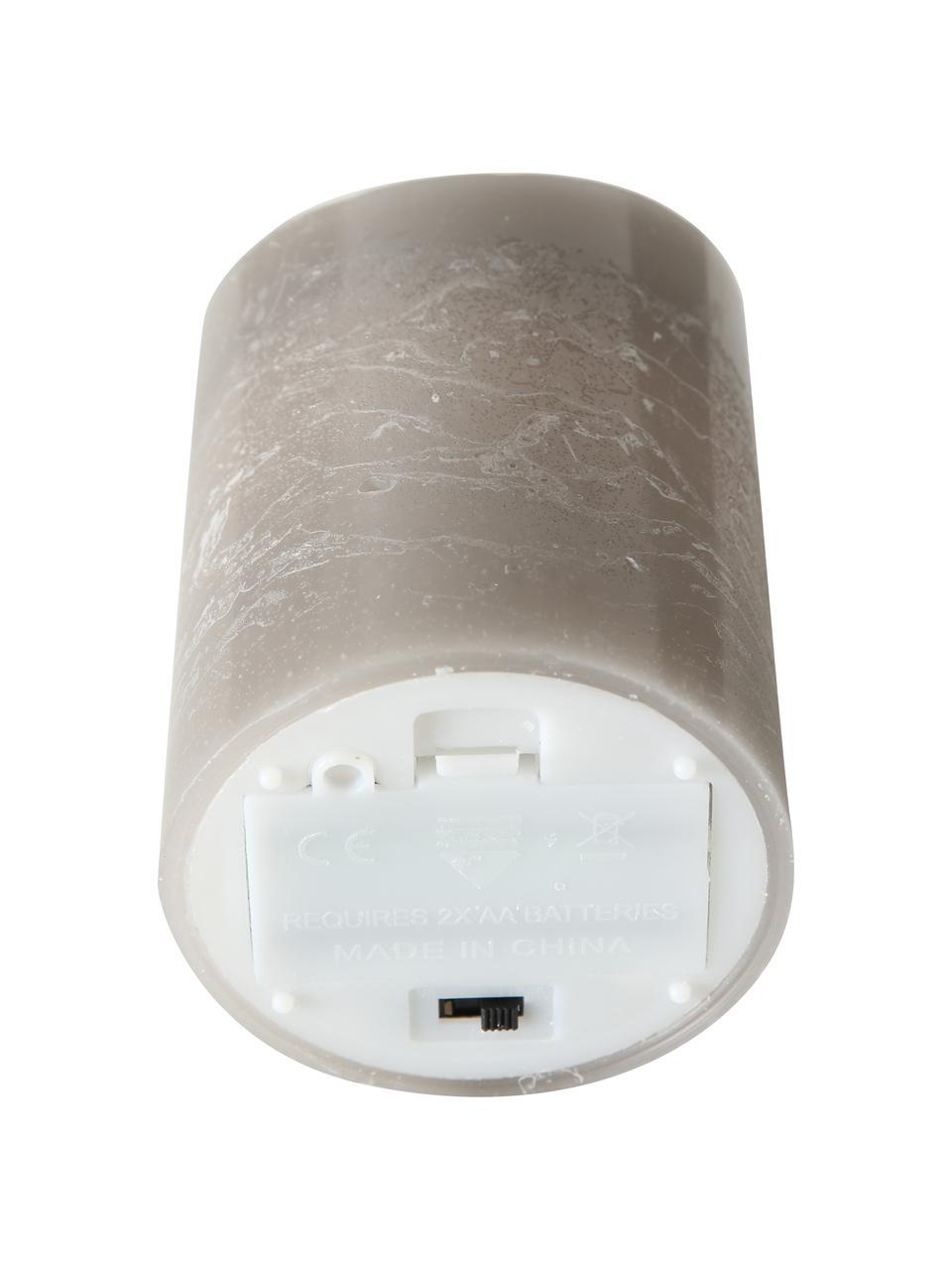 LED-Kerze Bino, Grau, Ø 8 x H 12 cm
