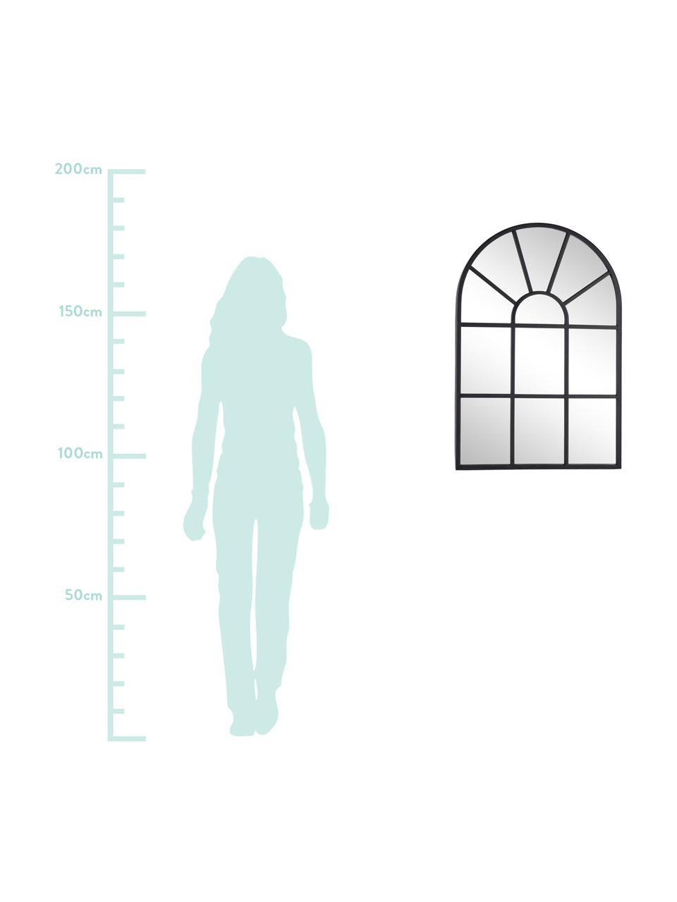Nástěnné zrcadlo Reflix, Černá