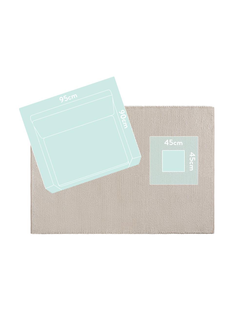 Handgewebter Wollteppich Uno in Creme mit geflochtener Struktur, Flor: 60% Wolle, 40% Polyester, Creme, B 200 x L 300 cm (Größe L)