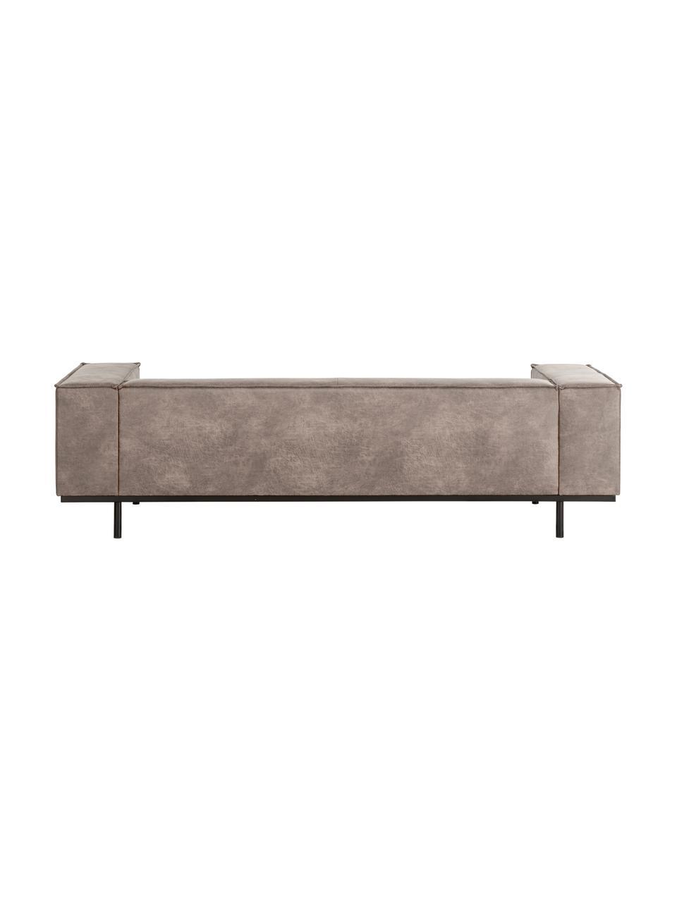 Sofa ze skóry z metalowymi nogami Abigail (2-osobowa), Tapicerka: skóra naturalna (70%skór, Nogi: stal lakierowana, Koniakowy, S 190 x G 95 cm