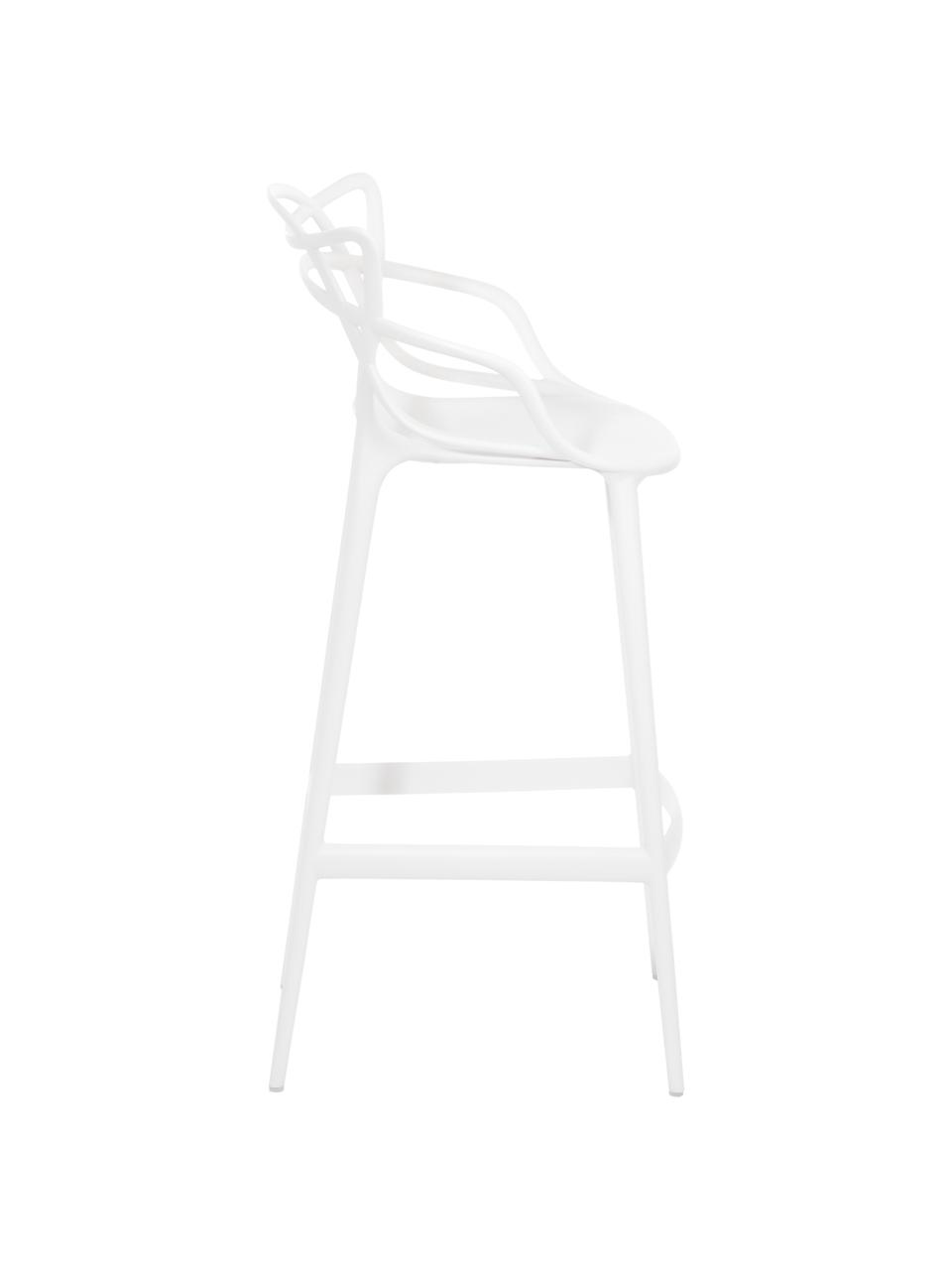 Barstuhl Masters, Polypropylen, Weiß, 49 x 109 cm